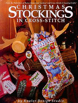 christmas stockings in cross stitch
