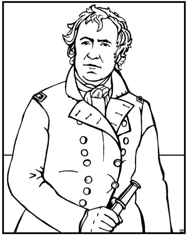 Zachary Taylor Coloring Page Purple Kitty