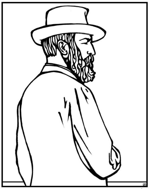 James Garfield Coloring Page | Purple Kitty