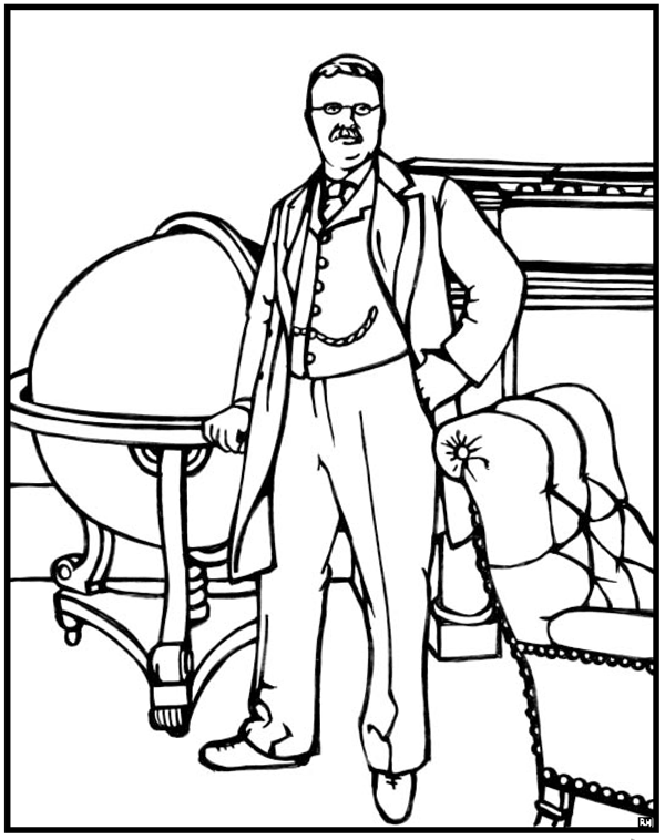 roosevelt coloring pages - photo#5