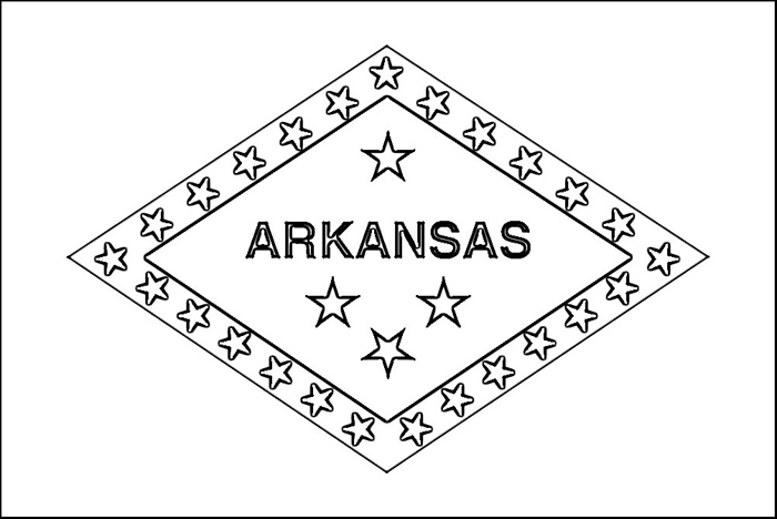Arkansas a free coloring pages for Arkansas coloring pages
