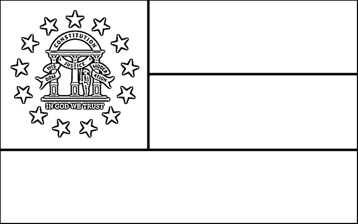 Georgia Flag Coloring Page