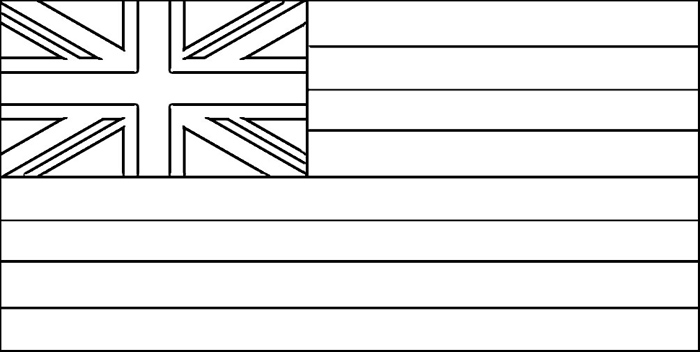 Hawaii Flag Coloring Page