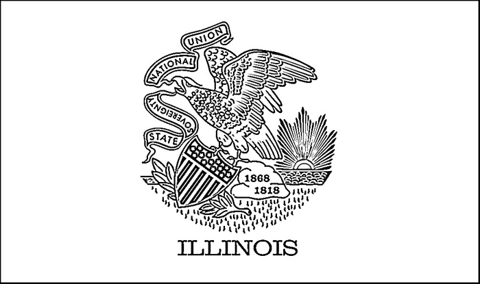 Illinois Flag Coloring Page Purple Kitty