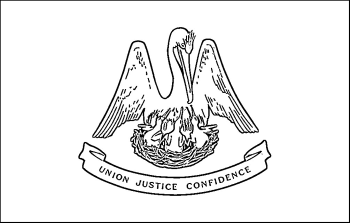 louisiana flag coloring pages - photo#3