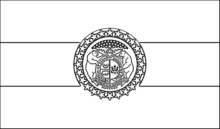 Missouri Flag Coloring Page Purple Kitty Missouri State Flag Coloring Page