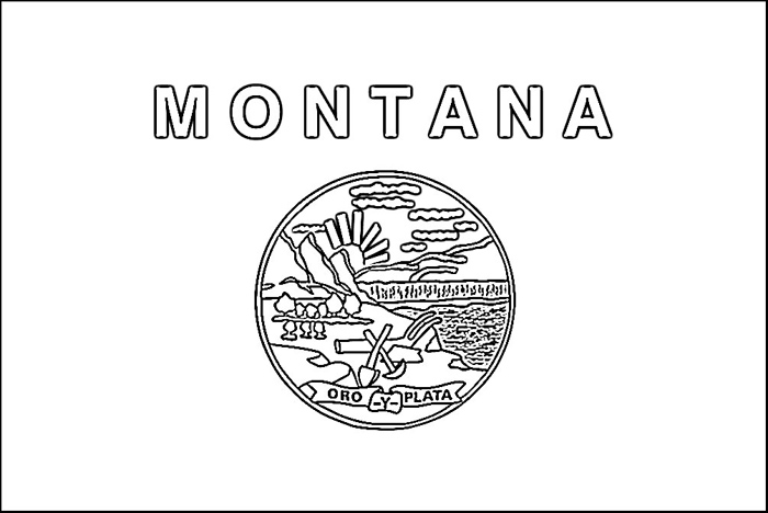 State Of Montana Seal Coloring Page