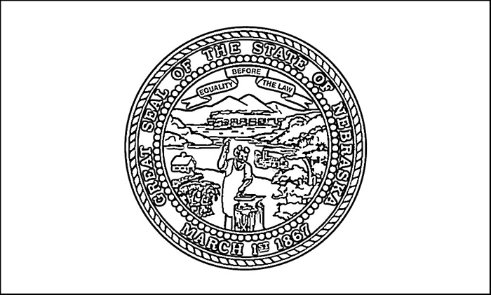 Nebraska Flag Coloring Page