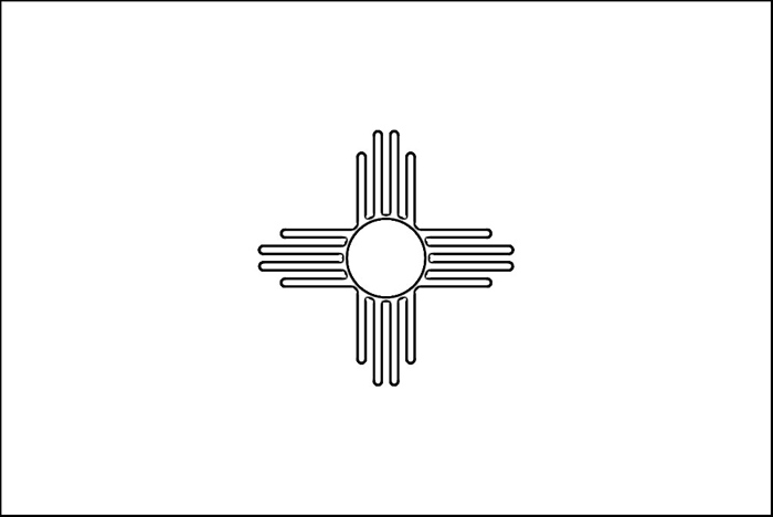 New Mexico Flag Coloring Page | Purple Kitty