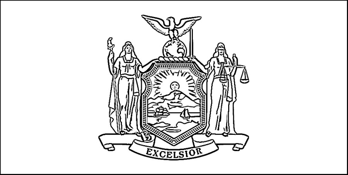 New york flag coloring page purple kitty for New jersey state seal coloring page