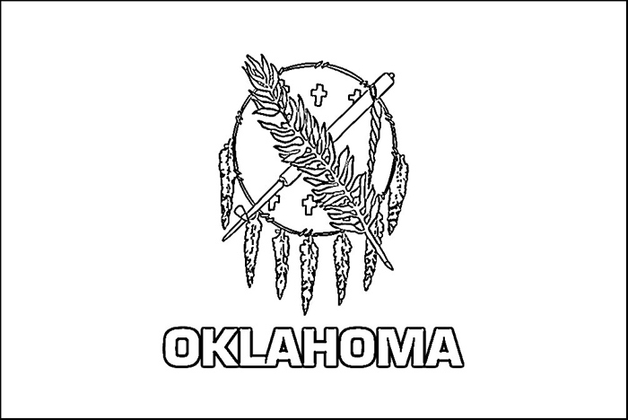 coloring pages oklahoma state flag - photo#3