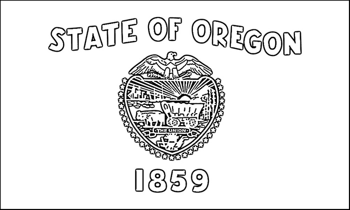 Oregon flag coloring page purple kitty for Oregon flag coloring page