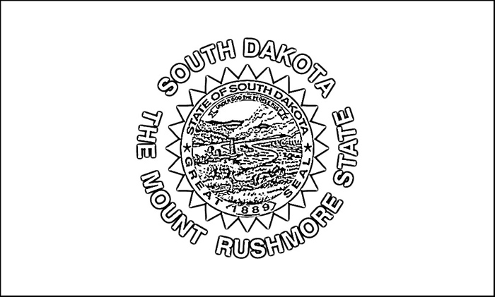 South Dakota Flag Coloring Page Purple Kitty