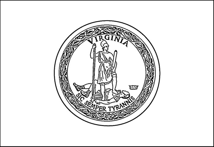 Virginia flag coloring page purple kitty for Virginia state symbols coloring pages