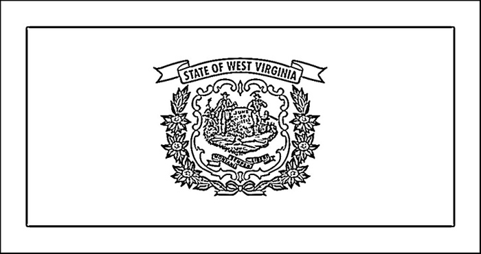 West Virginia Flag Coloring Page