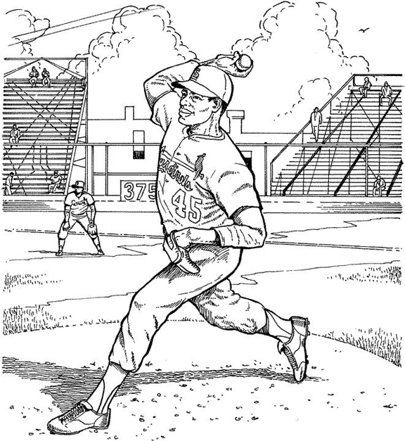 St Louis Cardinals Pitcher Baseball Coloring Page | Purple ...