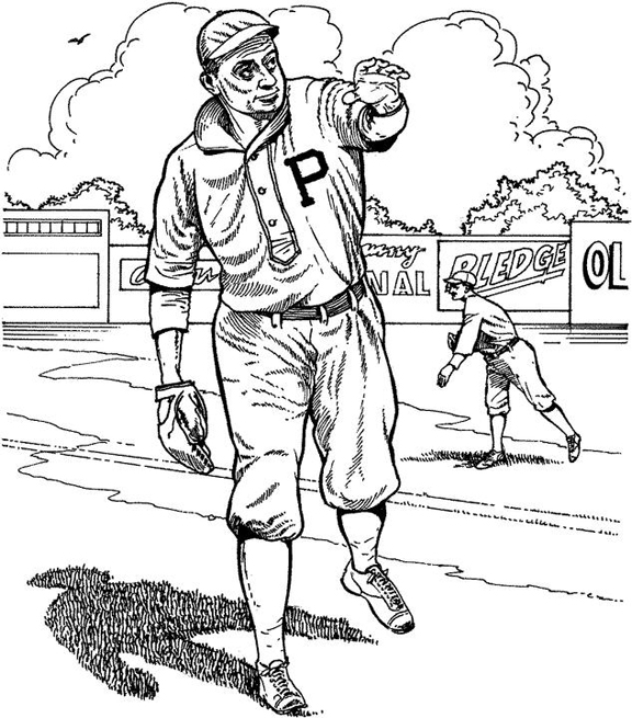 pirates logo baseball coloring pages - photo#6