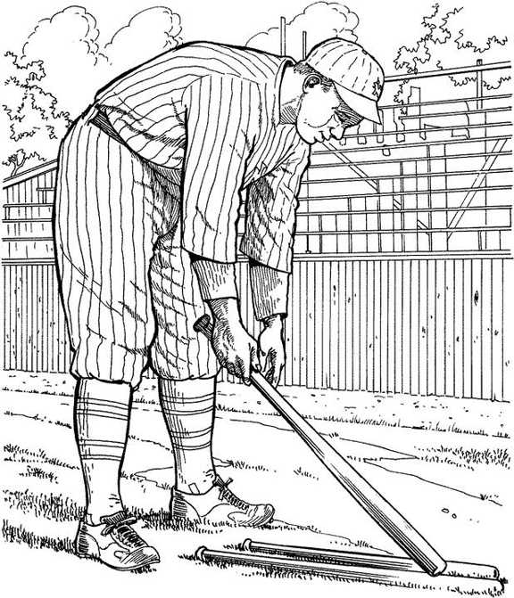 Yankee coloring pages printables ~ New York Yankee Player Baseball Coloring Page | Purple Kitty