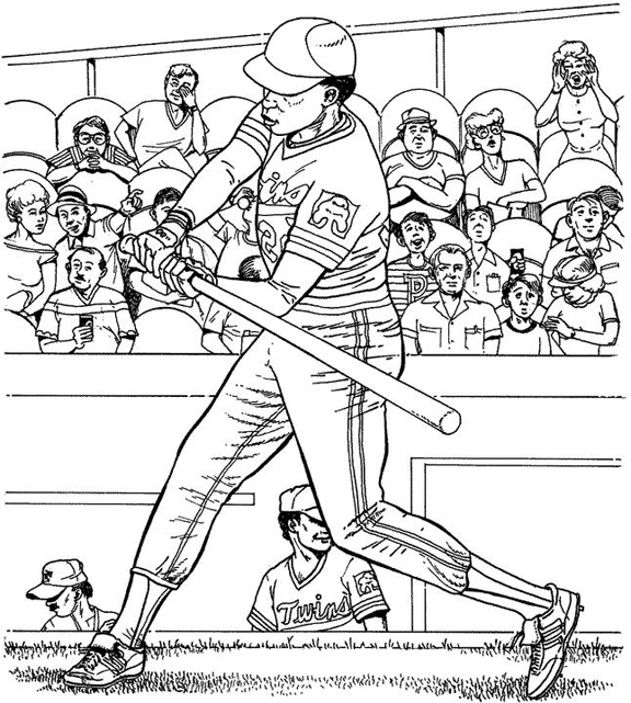 Minnesota Twins Batter Baseball Coloring Page Purple Kitty