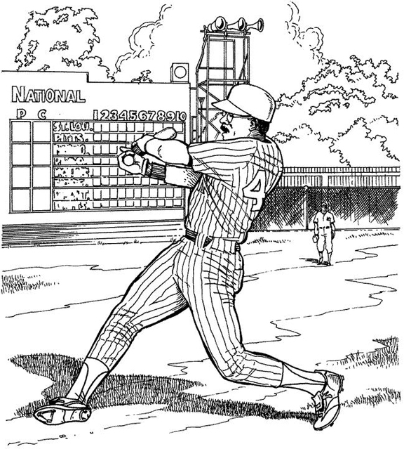 Home Run Baseball Coloring Page | Purple Kitty