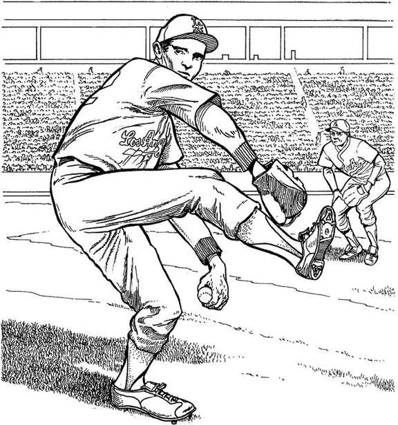 baseball catcher coloring pages - los angeles dodgers free coloring pages