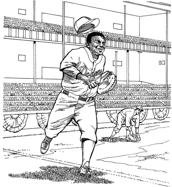 Doggers Baseball Colouring Pages