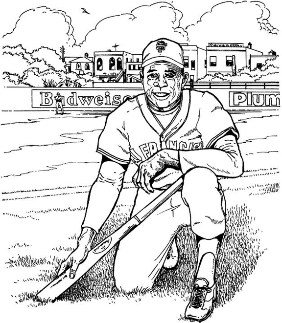 giants coloring pages baseball bat - photo#11