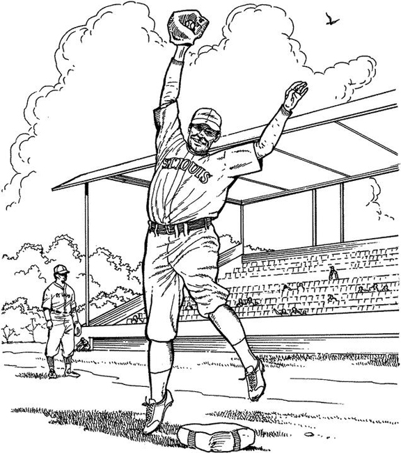 pitcher baseball coloring page