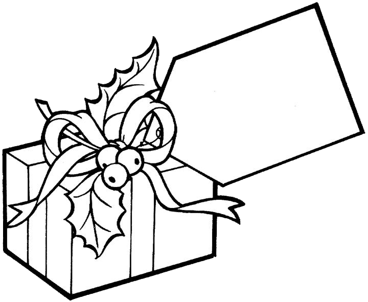 Christmas Gift Coloring Pages 2 | Purple Kitty