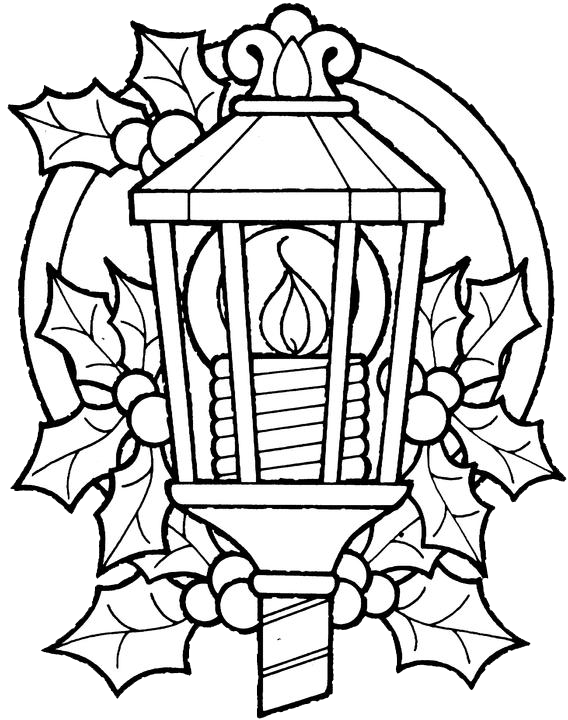 Christmas Lantern Coloring Pages 1 Purple Kitty Lantern Coloring Page