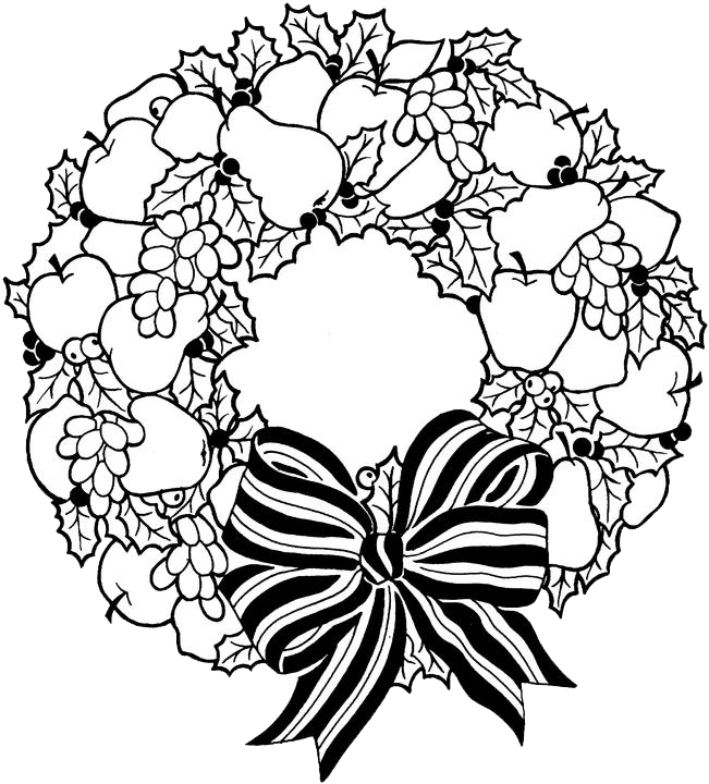Search results for outline of a wreath calendar 2015 for Christmas wreath coloring pages