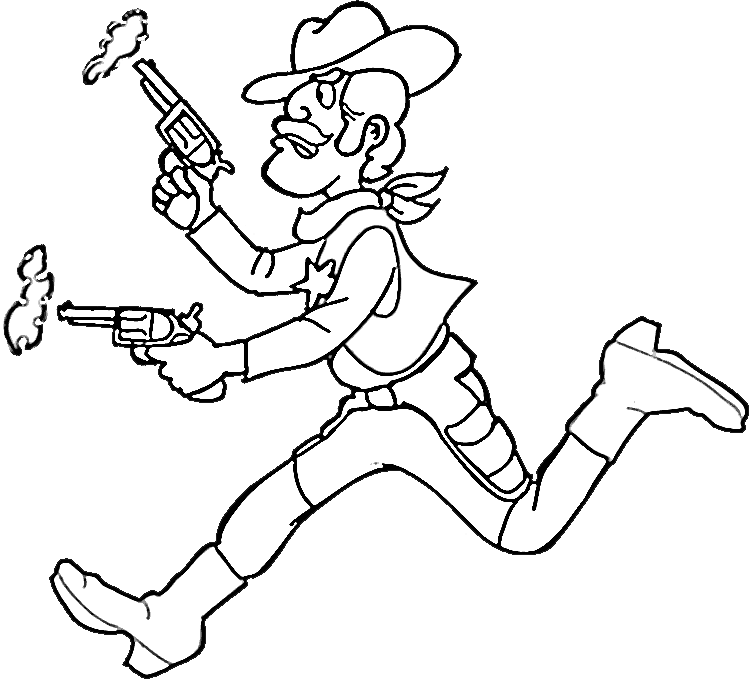 c is for cowboy coloring pages - photo #8
