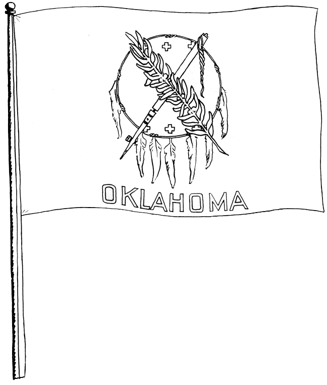 coloring pages oklahoma state flag - photo#17
