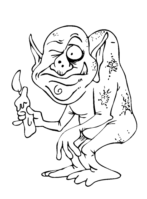 minion coloring pages halloween goblin - photo#1