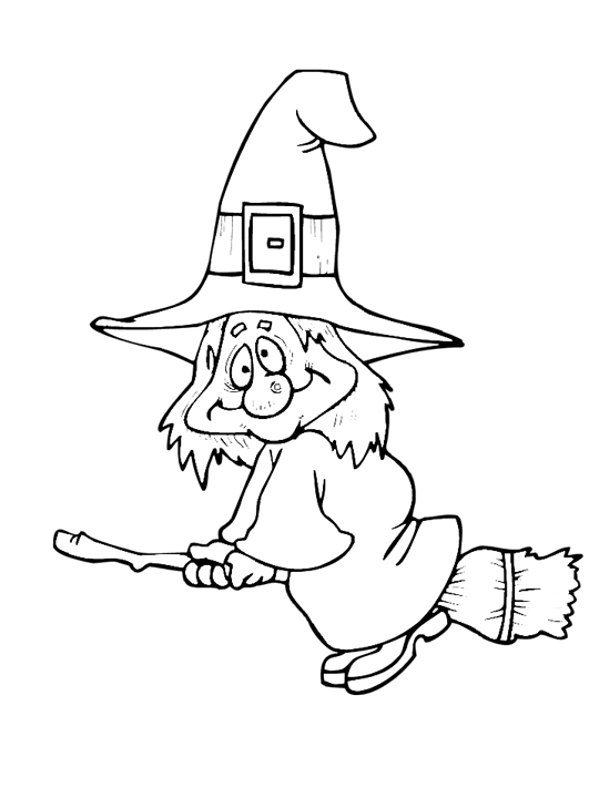 simple witch coloring pages - photo #8