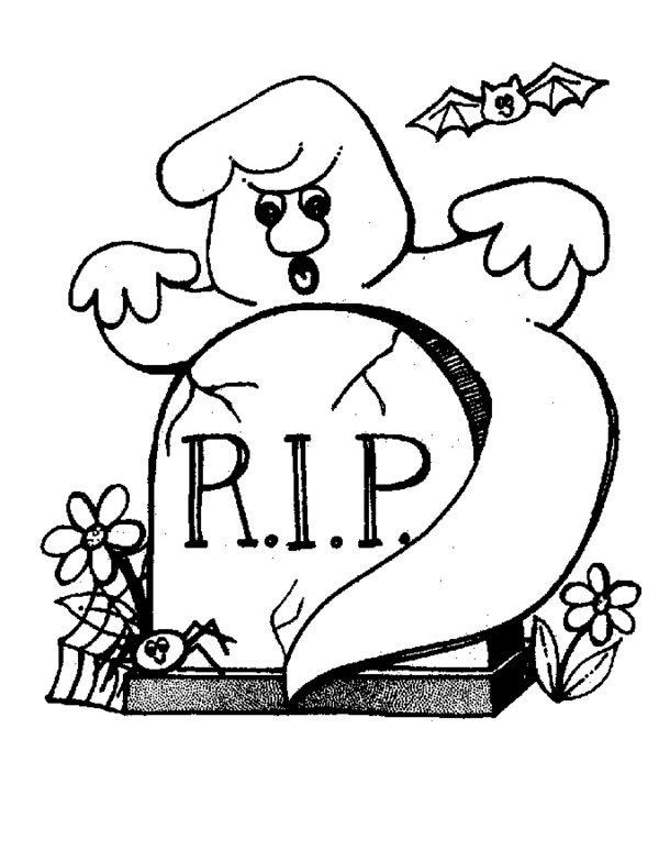 Halloween Ghost Coloring Pages 2