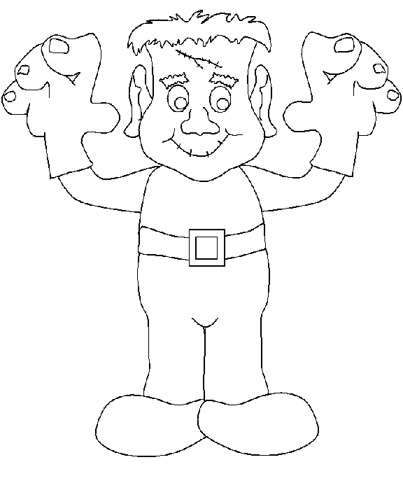 friendly monster coloring pages - photo#7