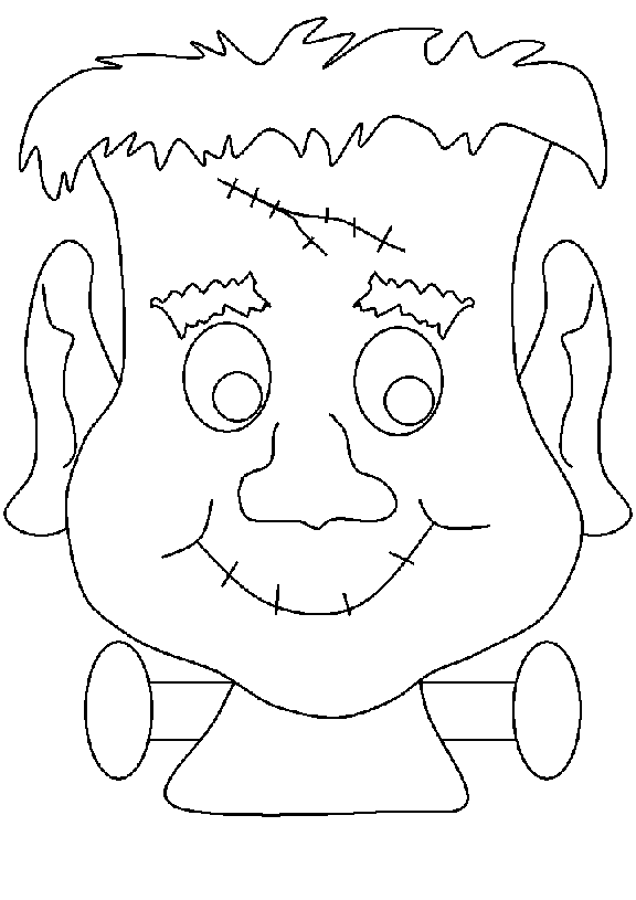 halloween monster coloring pages 2 purple kitty