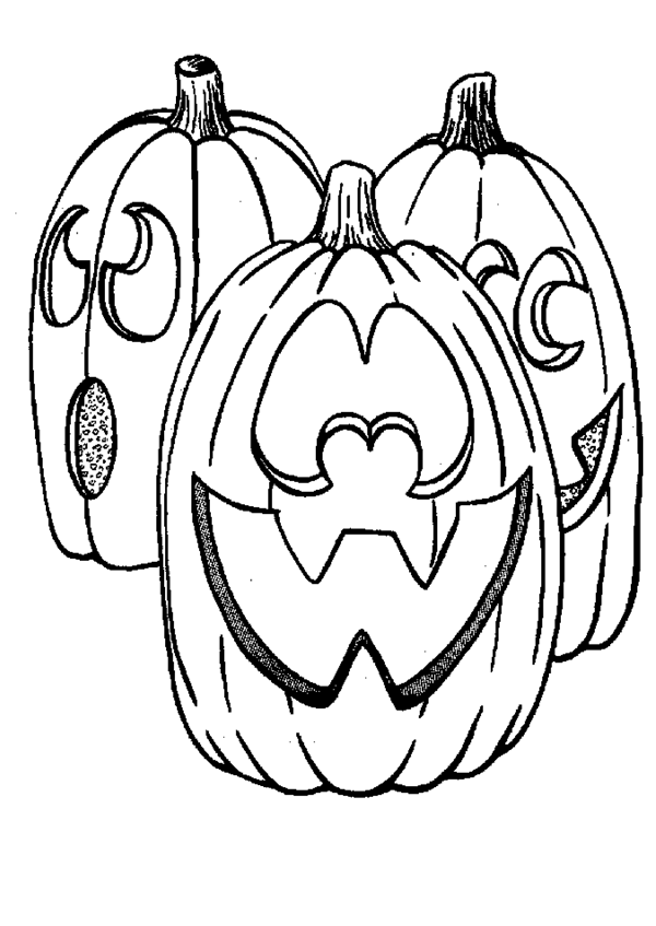 Halloween Pumpkin Coloring Pages 6 | Purple Kitty