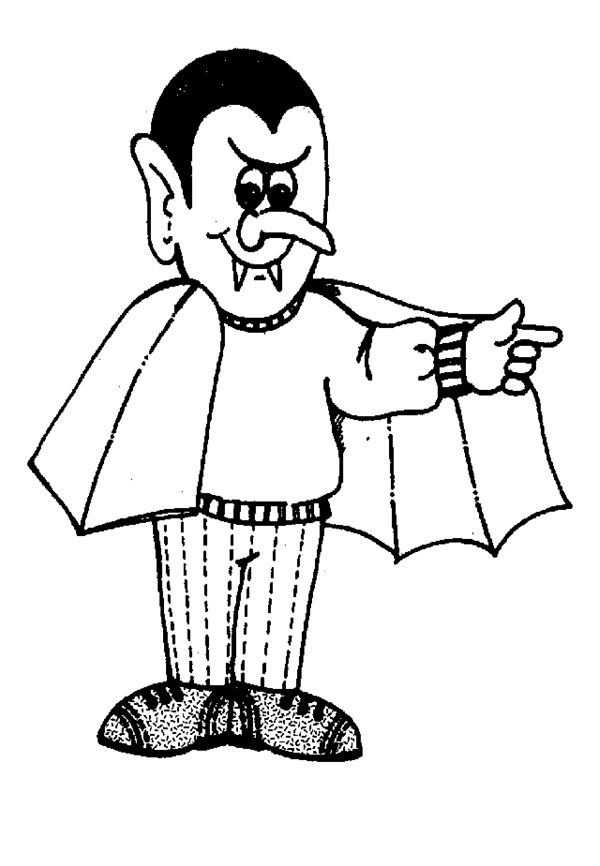 Halloween Vampire Coloring Pages 2