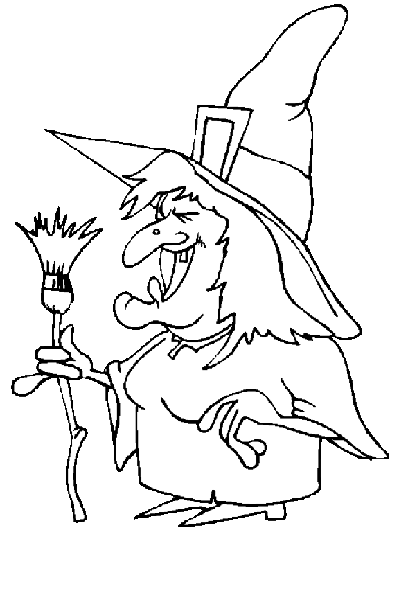 halloween witch coloring pages - photo#20