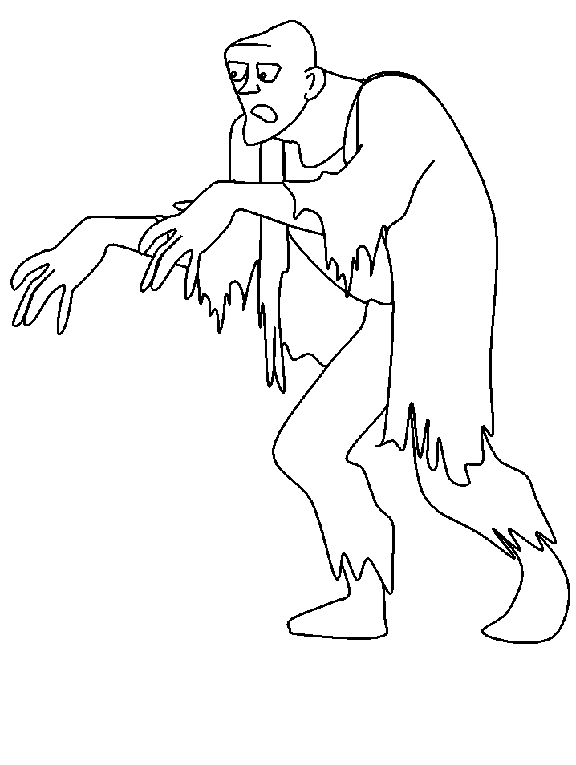 halloween zombie coloring pages 1