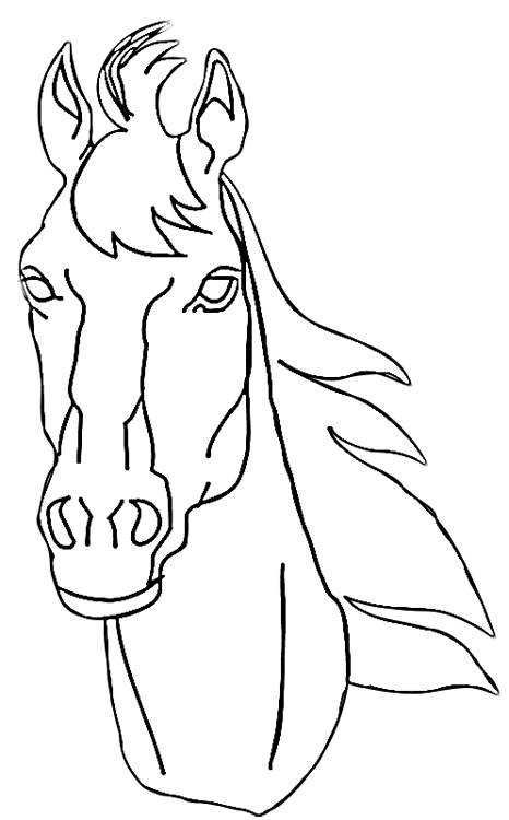 coloring pages horse head - photo#20
