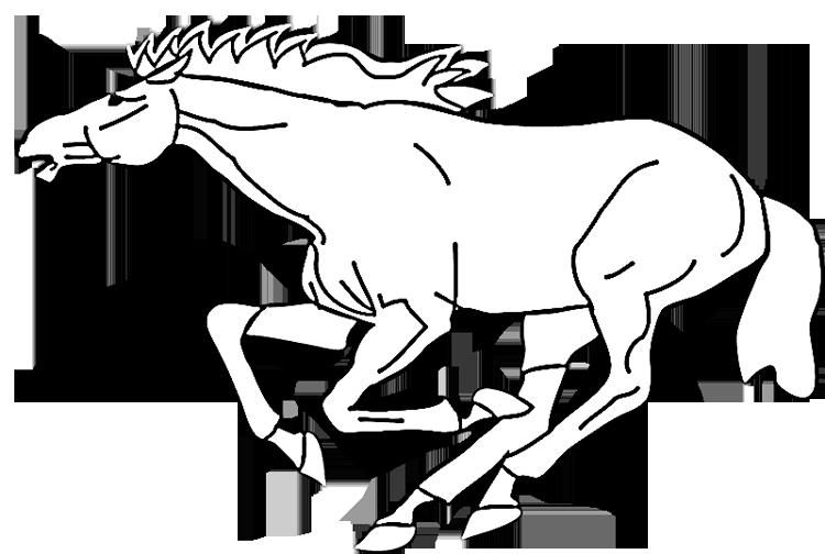 Galloping Mustang Coloring Page
