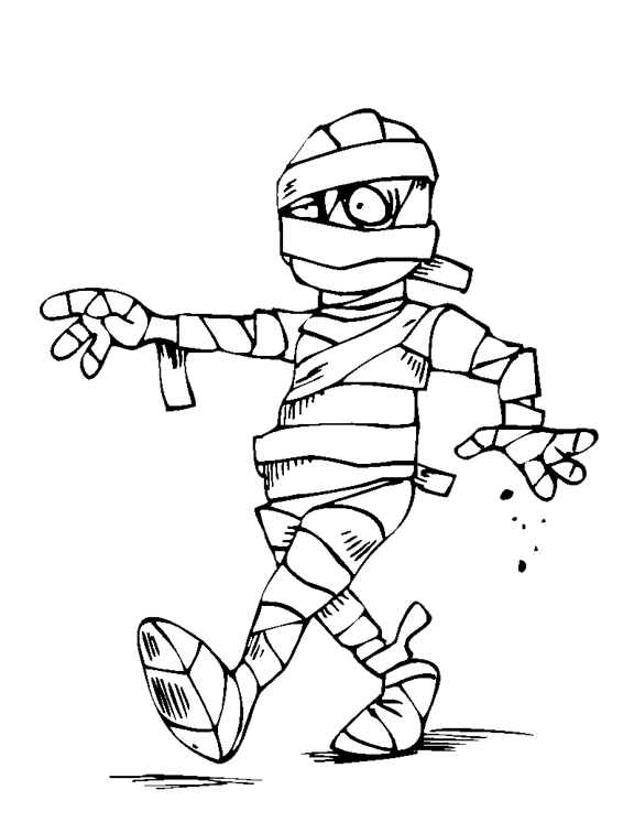 halloween mummy coloring pages - photo#10
