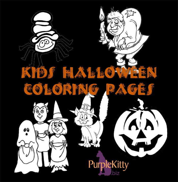 Halloween Coloring Pages | Purple Kitty