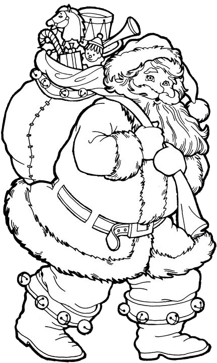 father christmas online coloring pages - photo#27