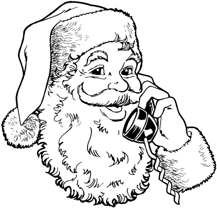 Free Coloring Pages Of Santa Claus Template Santa Claus Coloring Pages