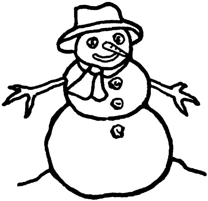 snowman coloring page purple kitty