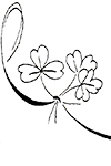 Irish Clovers coloring page